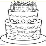 Cake Coloring New Image Free Printable Birthday Cake Coloring Pages For Kids