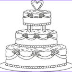 Cake Coloring Unique Gallery Round Wedding Cake Coloring Pages To Printing