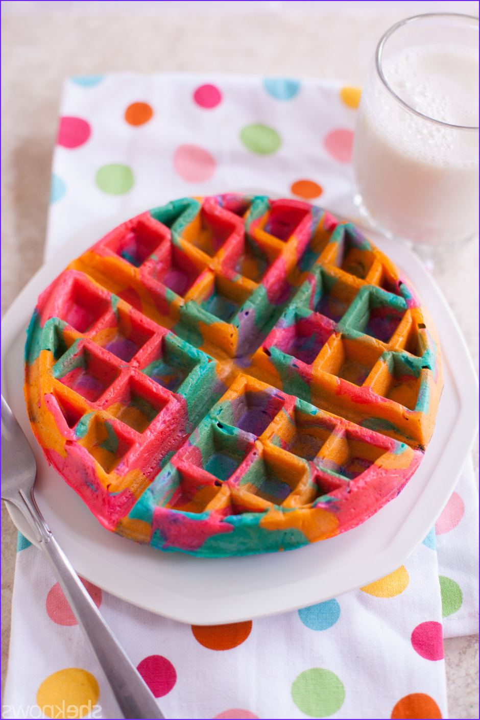 Can You Tie Dye with Food Coloring New Photos these Simple Diy Colorful Tie Dye Waffles Will Make Your