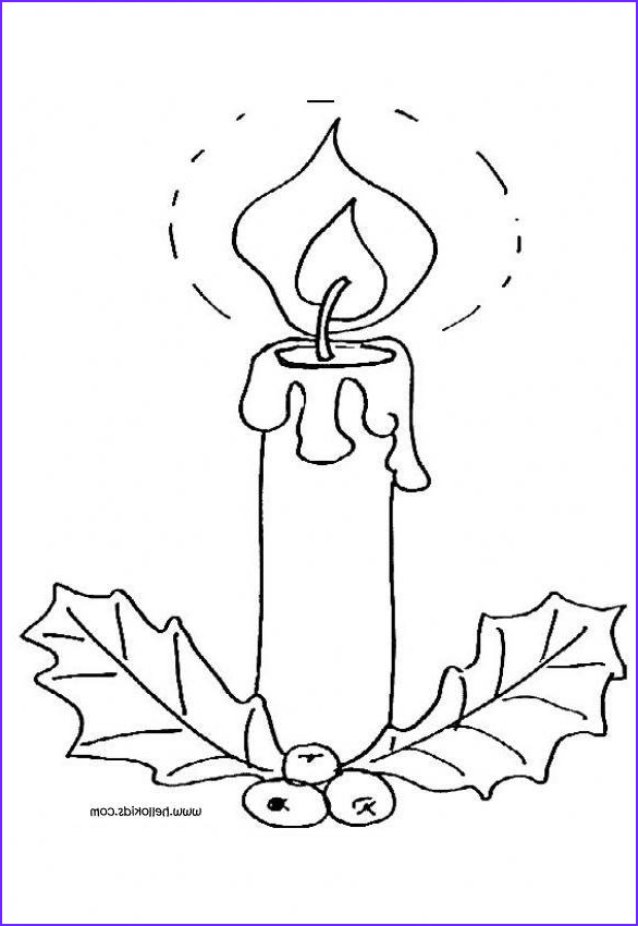 Candle Coloring Page Elegant Collection Lighted Candle and Holly Coloring Pages Hellokids