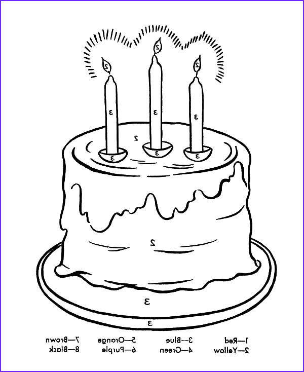 Candle Coloring Page Unique Image Birthday Candle