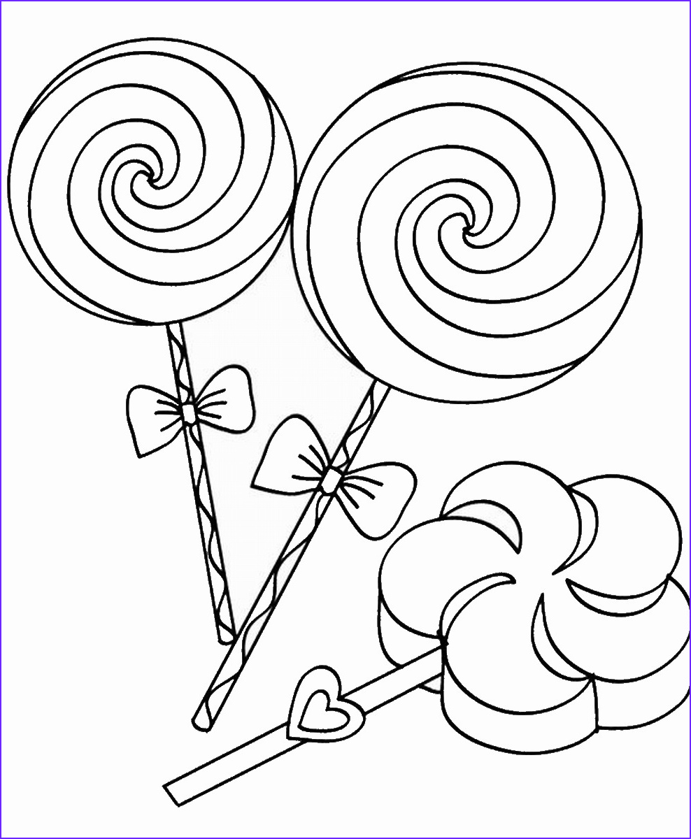 Candy Coloring Beautiful Photos Sweets and Candy Coloring Pages