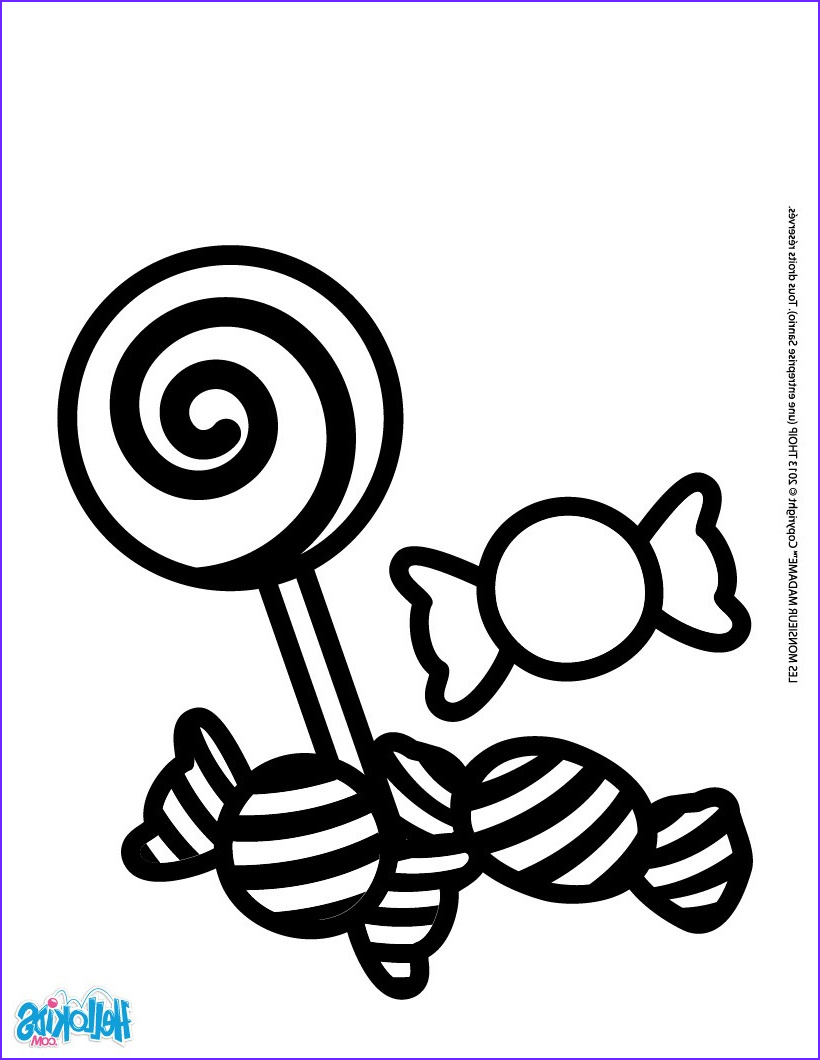 Candy Coloring Inspirational Photos Sweets and Can S Coloring Pages Hellokids