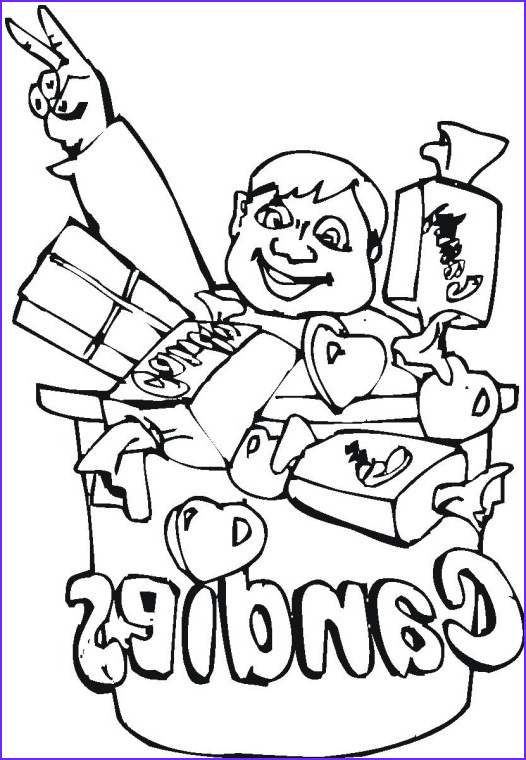 Candy Coloring Luxury Image All Candy Coloring Pages to Kids