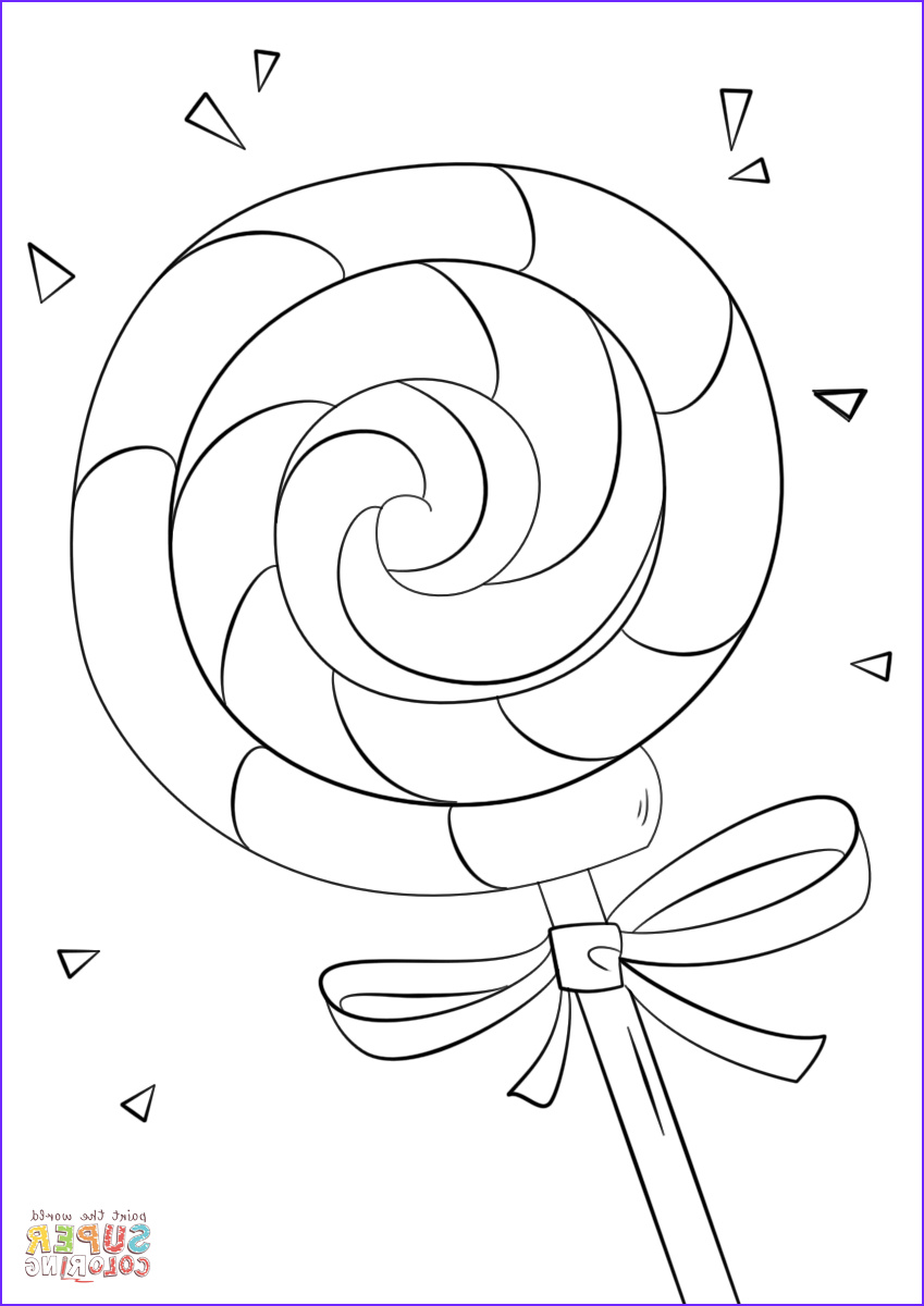 Candy Coloring New Collection Lollipop Coloring Page