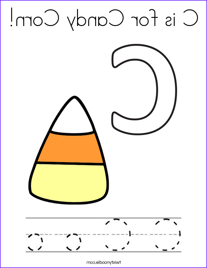 Candy Corn Coloring Page Beautiful Stock C Is For Candy Corn Coloring Page Twisty Noodle