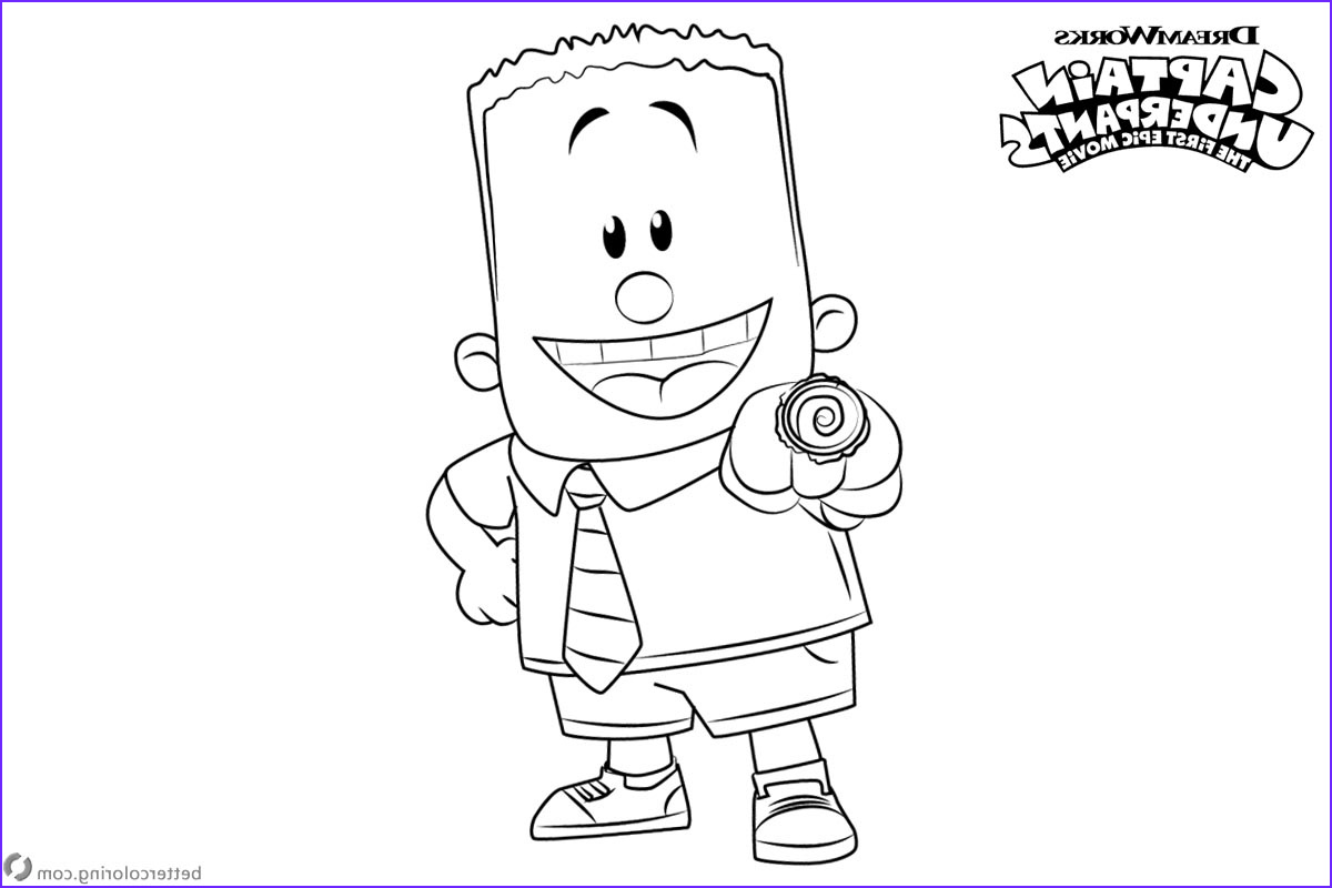 Captain Underpants Coloring Inspirational Photos Captain Underpants Coloring Pages Characters George Free
