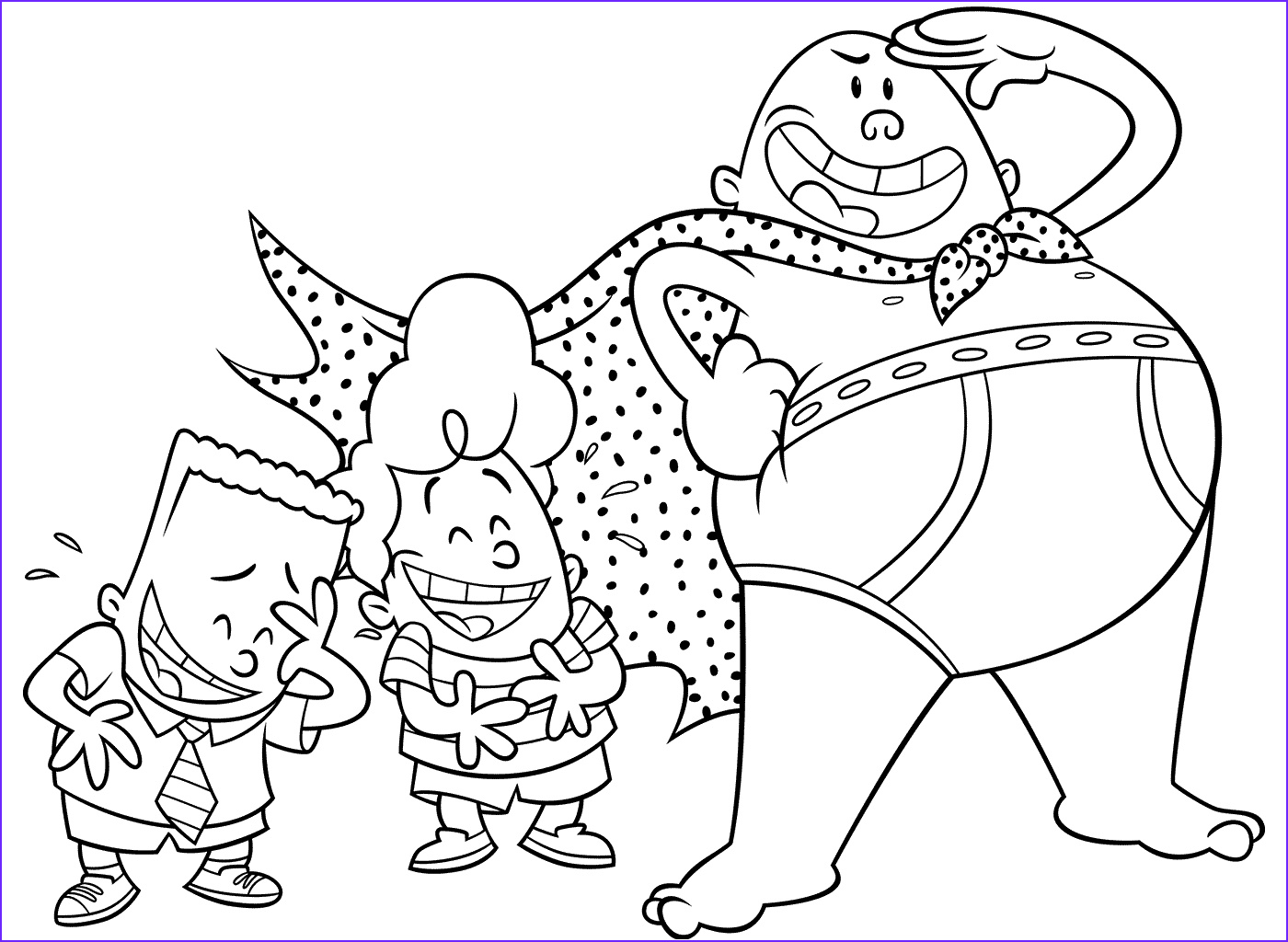 Captain Underpants Coloring New Gallery Captain Underpants Colouring Pages Baby Shower