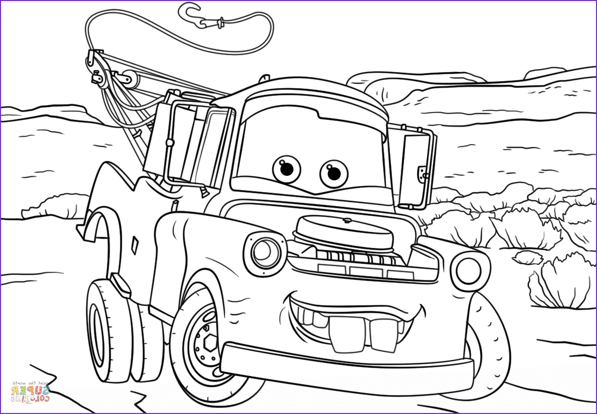 Car Coloring Book Luxury Photos tow Mater From Cars 3 Coloring Page