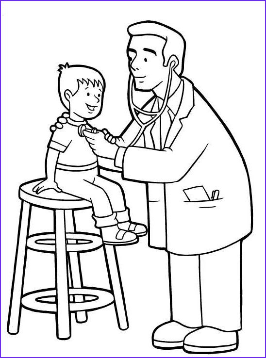doctor as a career colouring pages