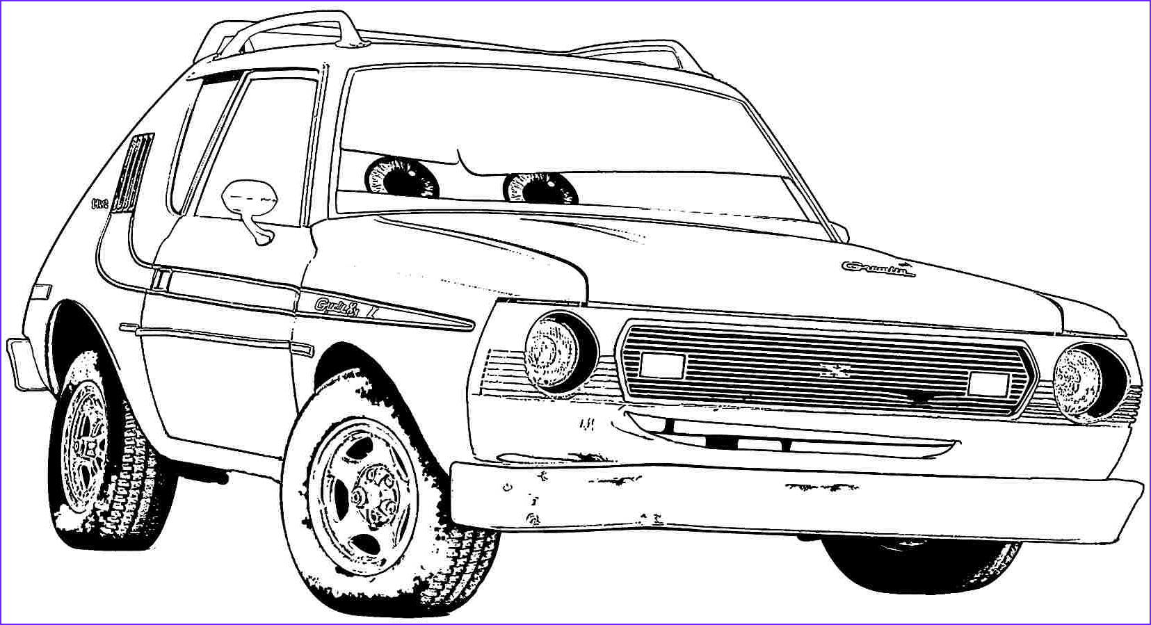 cars the movie coloring pictures