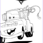 Cars The Movie Coloring Pages Cool Collection Color Mater The Tow Truck A Nice Coloring Page Of The