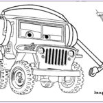 Cars The Movie Coloring Pages Cool Images Sarge The World War Ii Jeep From The Movie Cars With His