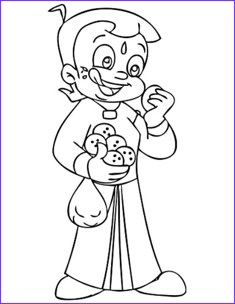 Cartoons Coloring Book Awesome Images Chota Bheem Coloring Pages