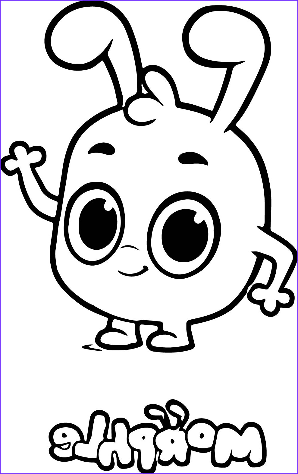 morphle cartoon cute coloring page