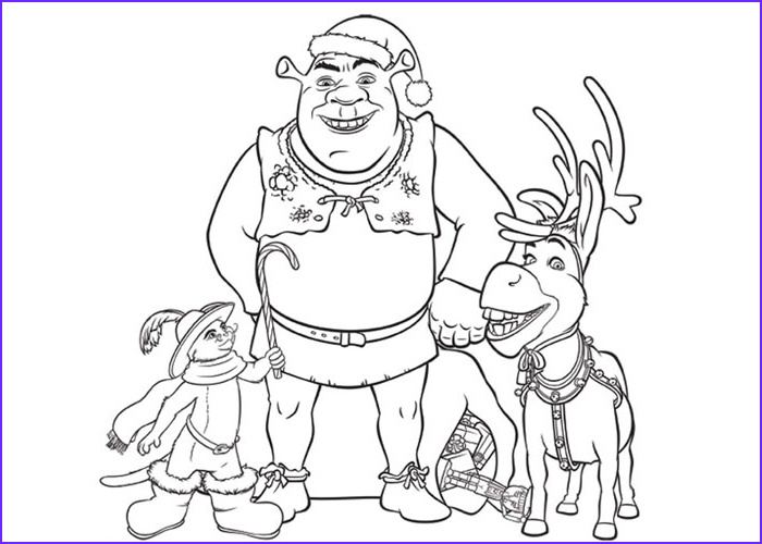 christmas cartoon coloring pages