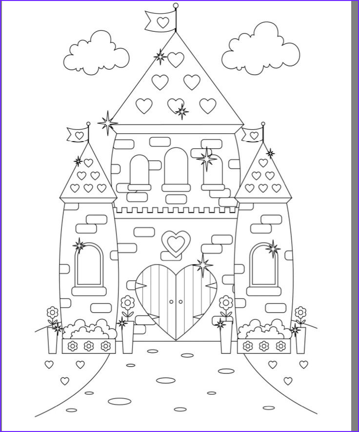 Castle Coloring Sheet Awesome Image Princess Castle Colouring Page