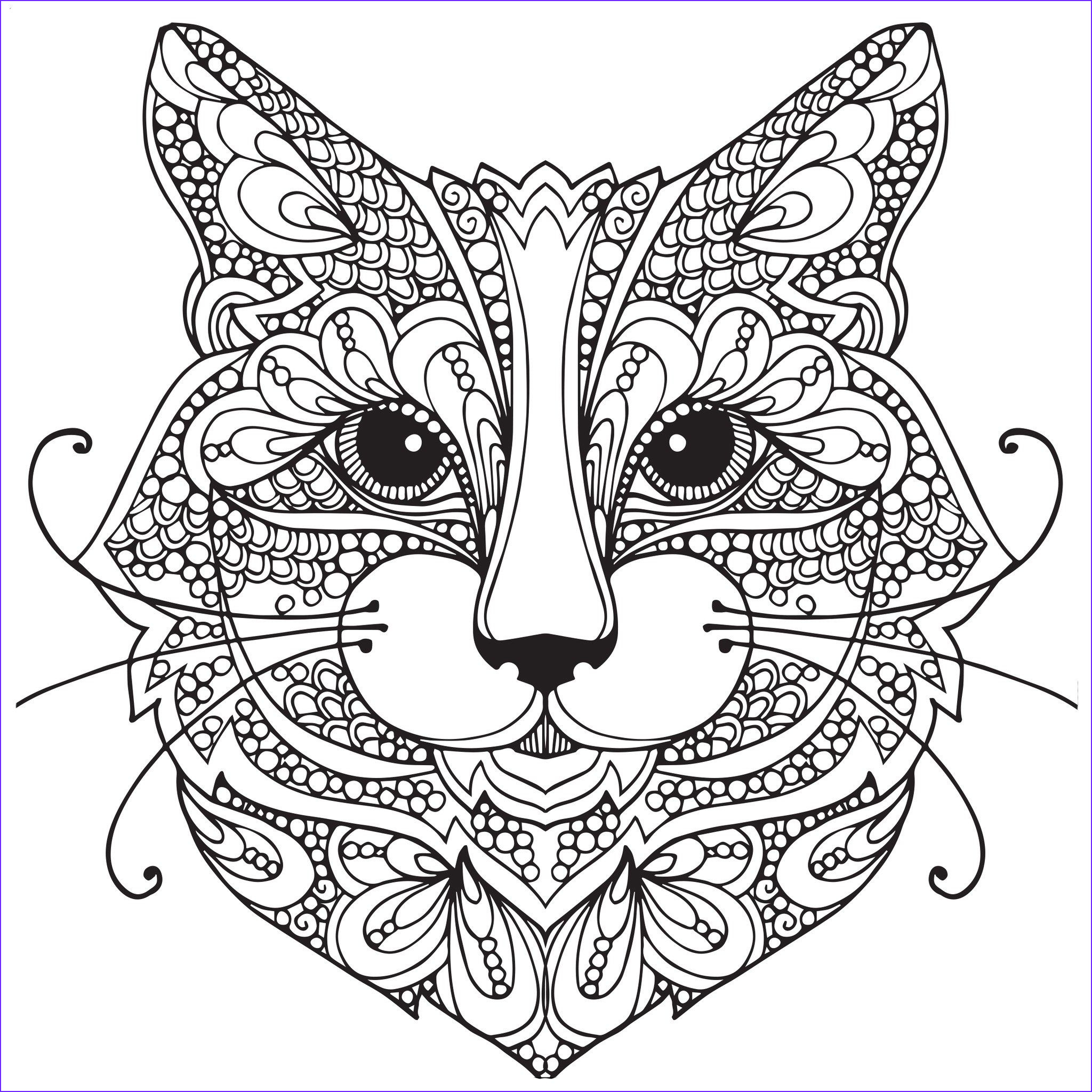 Cat Coloring Books for Adults Best Of Gallery Adult Coloring Pages Cat 1 Coloring Pages
