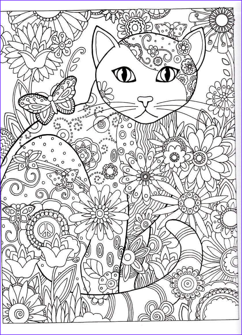 Cat Coloring Books for Adults Elegant Images Cat Abstract Doodle Zentangle Coloring Pages Colouring