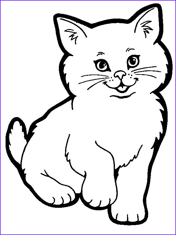 Cat Coloring Pages Printable Beautiful Images top 20 Free Printable Cat Coloring Pages for Kids