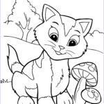 Cat Coloring Pictures Luxury Images Free Printable Kitten Coloring Pages For Kids Best