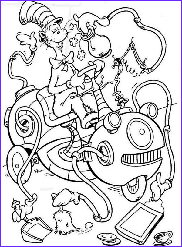 the cat in the hat cleaning machine coloring page