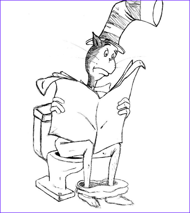 Cat In the Hat Coloring New Image Free Printable Cat In the Hat Coloring Pages for Kids