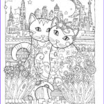 Cats Adult Coloring Books Awesome Photos Creative Cats Coloring Book By Marjorie Sarnat Dover