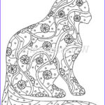 Cats Adult Coloring Books Cool Gallery Cat Coloring Page Coloring Pages Adult Coloring By