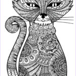 Cats Adult Coloring Books Luxury Images Adult Cat Coloring Pages Printable