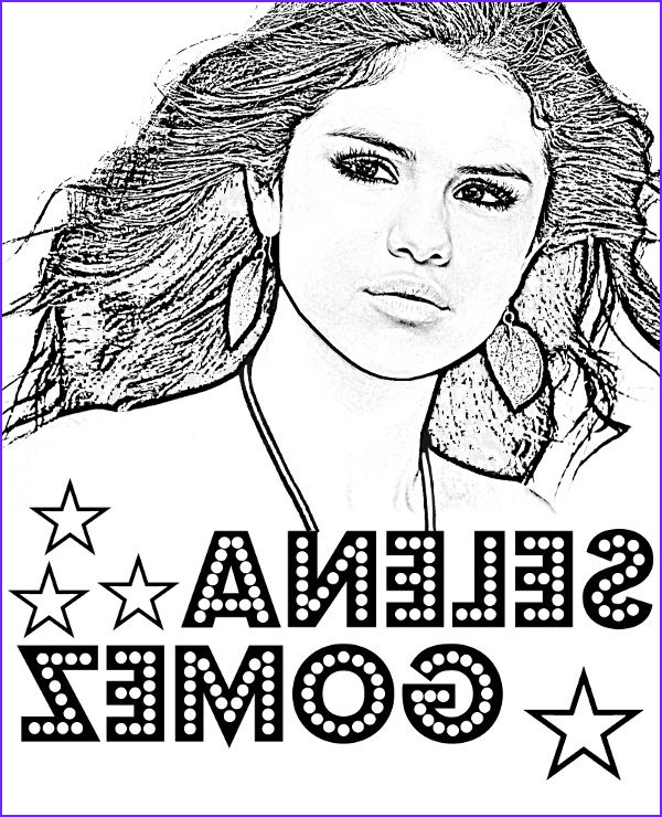 Celebrity Coloring Book Awesome Collection Selena Gomez Printable Coloring Sheet with Singers