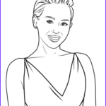 Celebrity Coloring Book Beautiful Photography Miley Cyrus Coloring Page