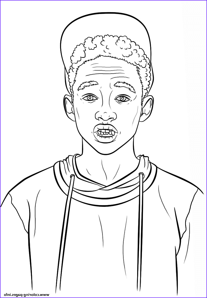 jaden smith celebrity printable coloring pages book