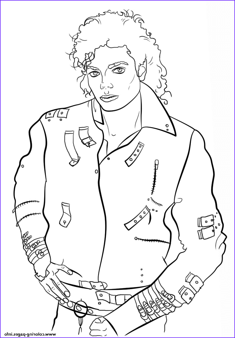 michael jackson celebrity printable coloring pages book