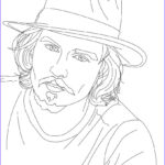 Celebrity Coloring Book Luxury Gallery Johnny Depp Coloring Pages Hellokids