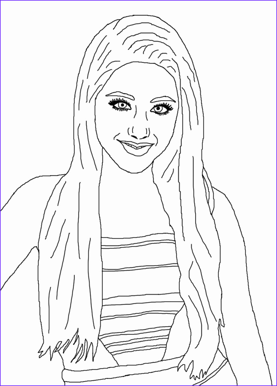 celebrity coloring book page