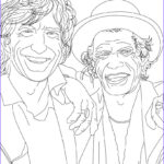 Celebrity Coloring Book Luxury Stock Mick Jagger And Keith Richard Coloring Pages Hellokids