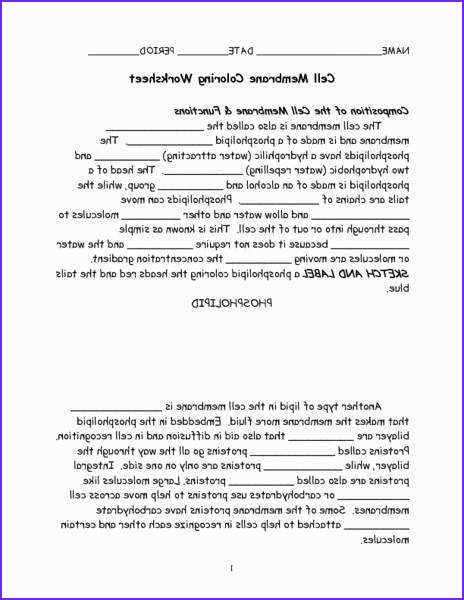 Cell Membrane Coloring Worksheet Answer Key Beautiful Photos Cell Membrane Worksheet
