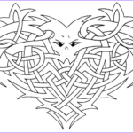 Celtic Coloring Book Cool Photos Celtic Knotwork Heart Coloring Page