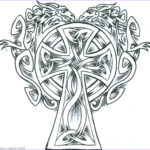 Celtic Coloring Book New Photography Celtic Cross Drawing At Getdrawings