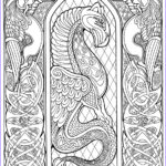 Celtic Coloring Pages Beautiful Collection Celtic Dragon Outlinebwsm