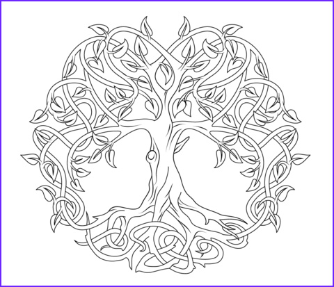 Celtic Coloring Pages Cool Photos Celtic Tree Of Life Coloring Page