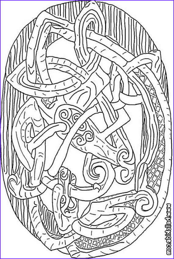 Celtic Coloring Pages Elegant Collection Celtic Dragon Coloring Pages Hellokids