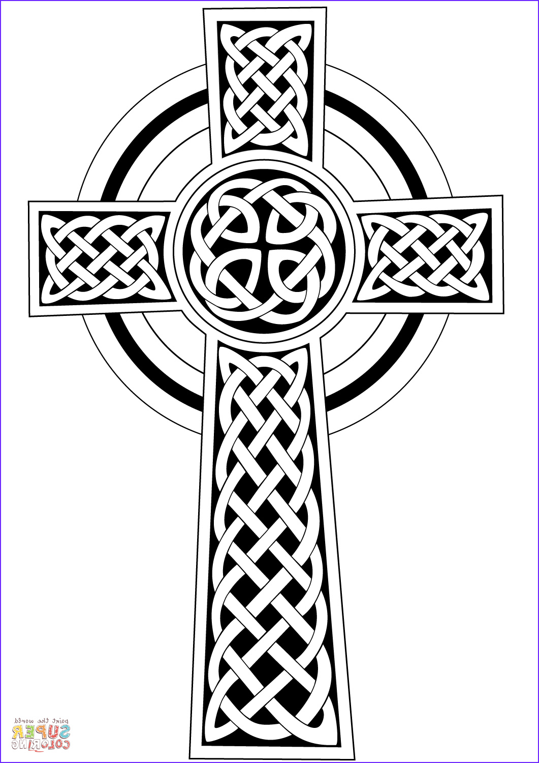 Celtic Coloring Pages New Image Celtic Cross Coloring Page