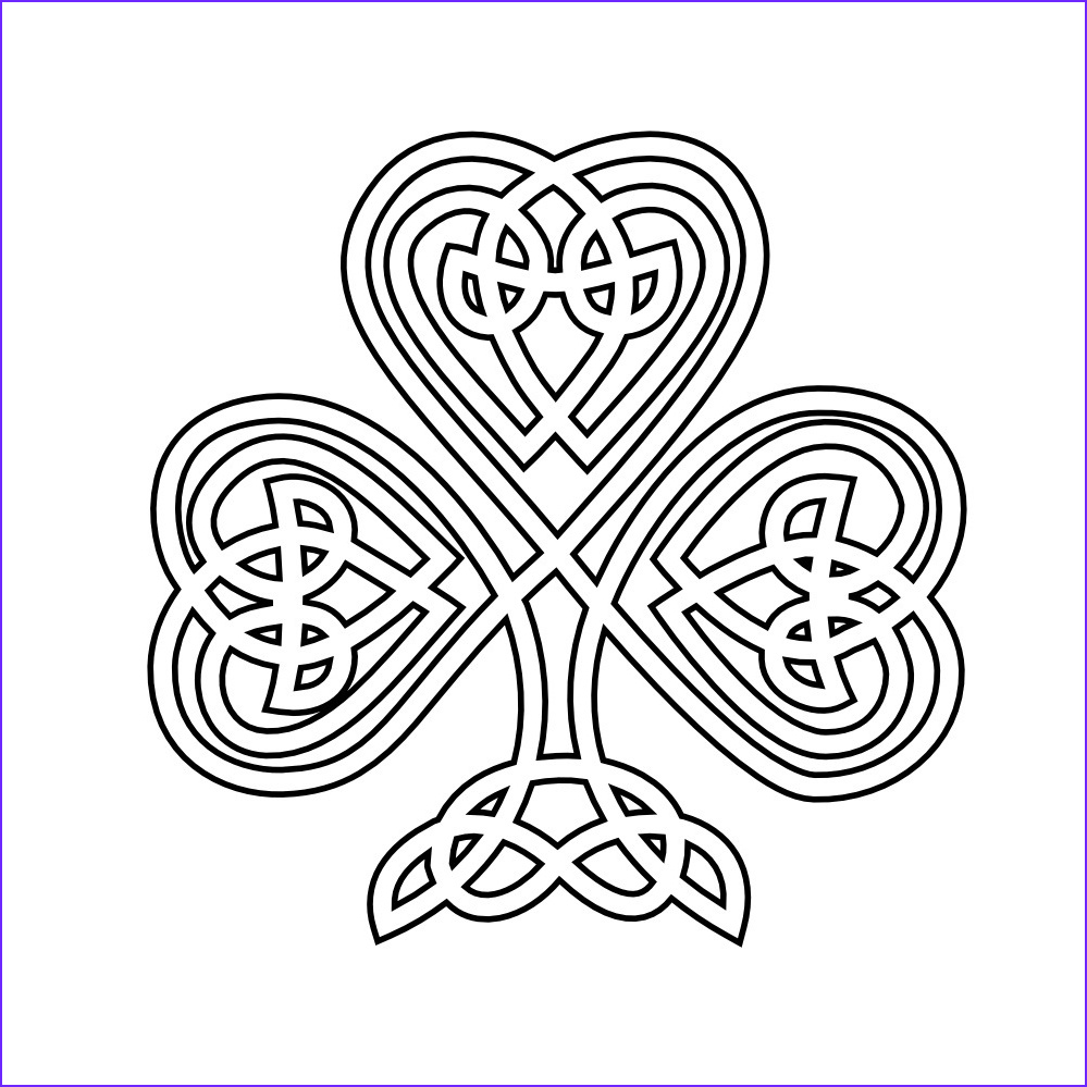shamrock coloring pages