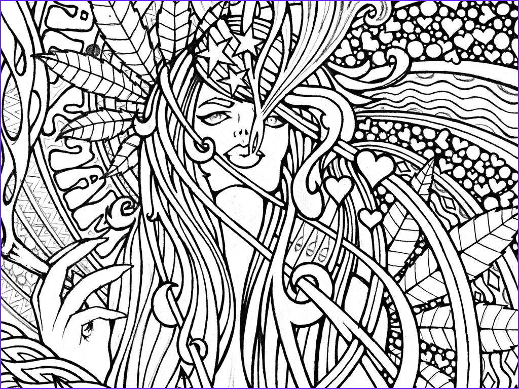 Challenging Coloring Pages for Adults New Photos Cannabis Fantasy Cool Coloring Book Pages top Free Printable