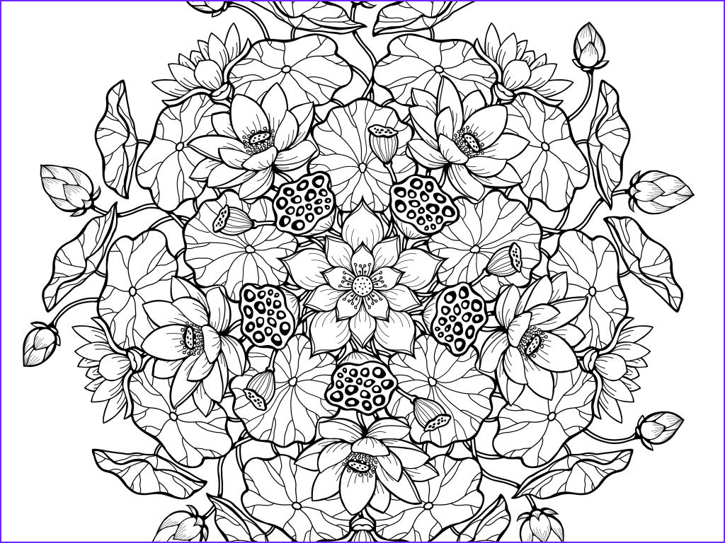 Challenging Coloring Pages for Adults Unique Stock Floral Coloring Pages for Adults Best Coloring Pages for K