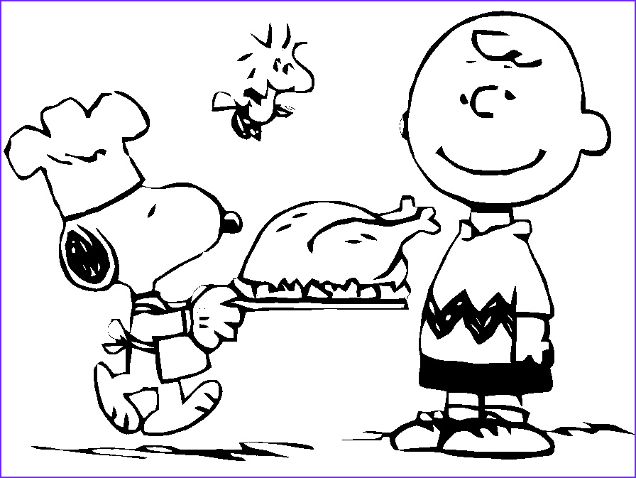 thanksgiving charlie brown coloring page