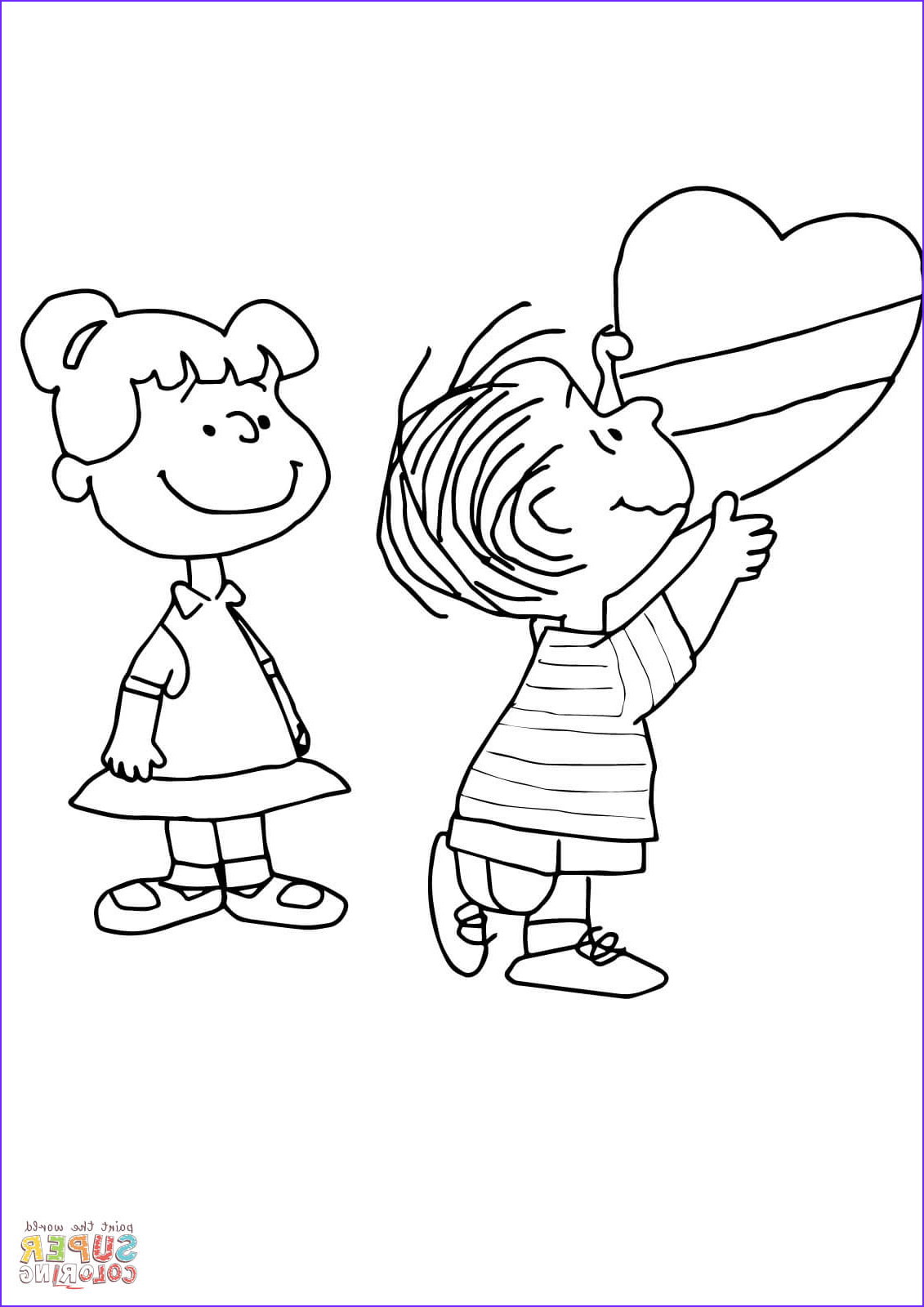 Charlie Brown Coloring Pages Luxury Gallery Charlie Brown Valentine Coloring Page