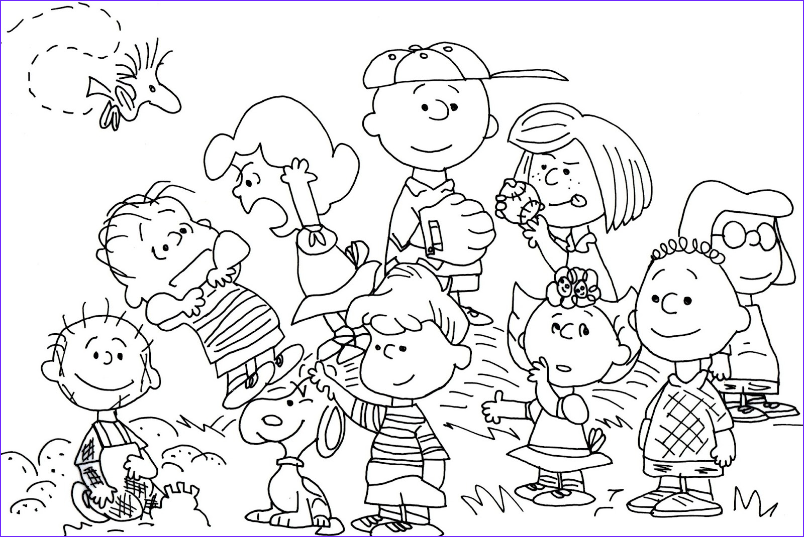 Charlie Brown Coloring Pages New Photos Peanuts Gang Coloring Pages Printable